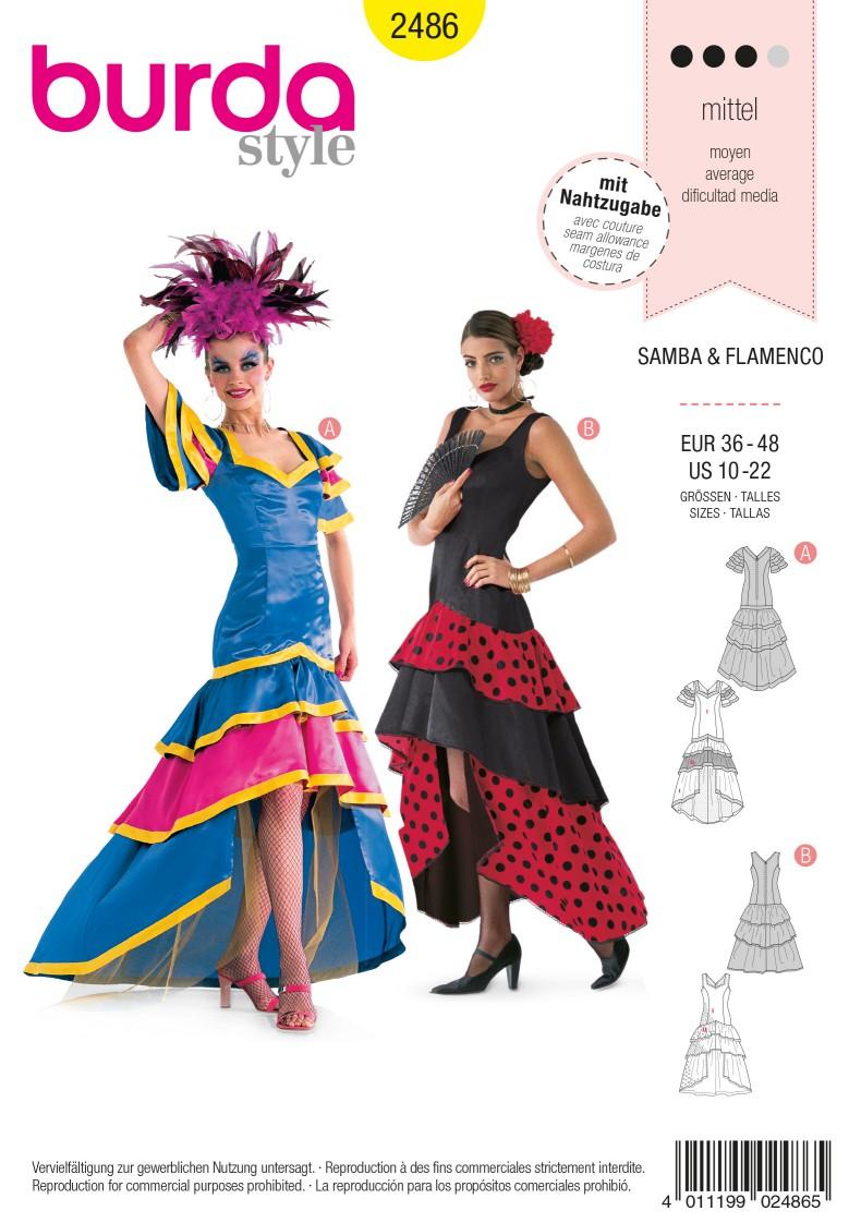 Burda 2486 Samba, Flamenco