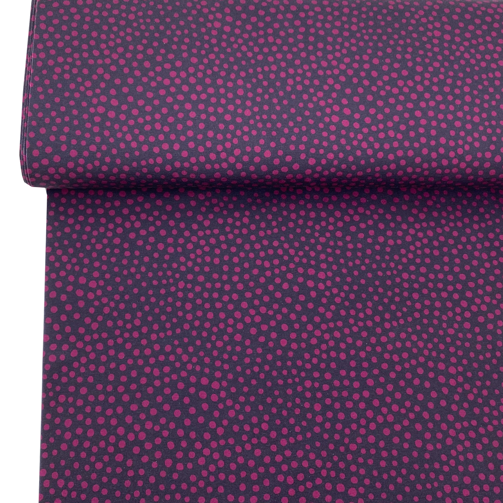French Terry Stone Dots Magenta