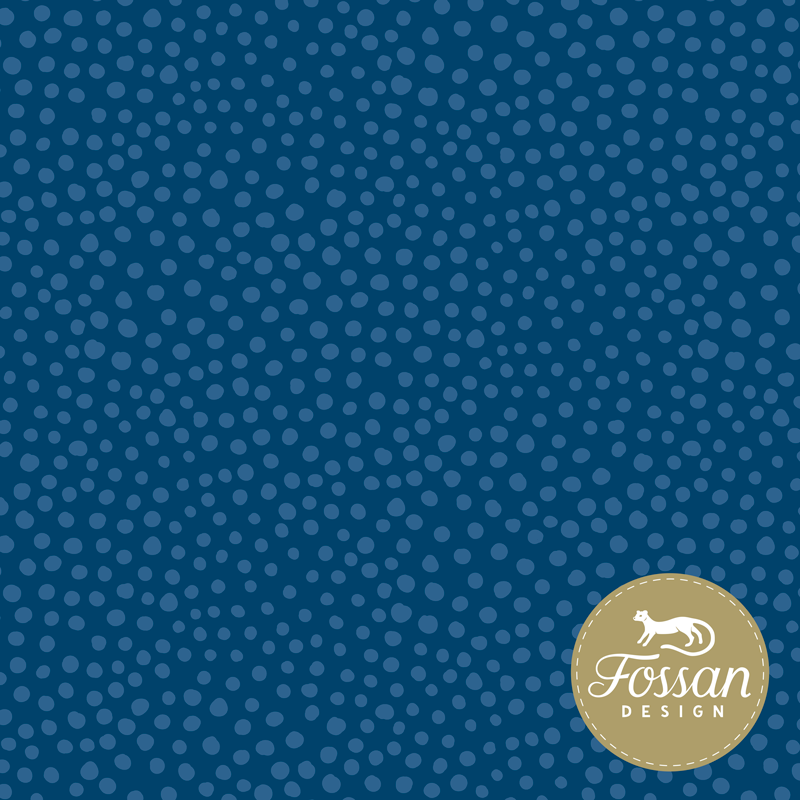 French Terry Stone Dots Blue
