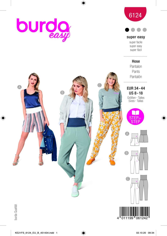 Burda 6124 Trousers/Pants