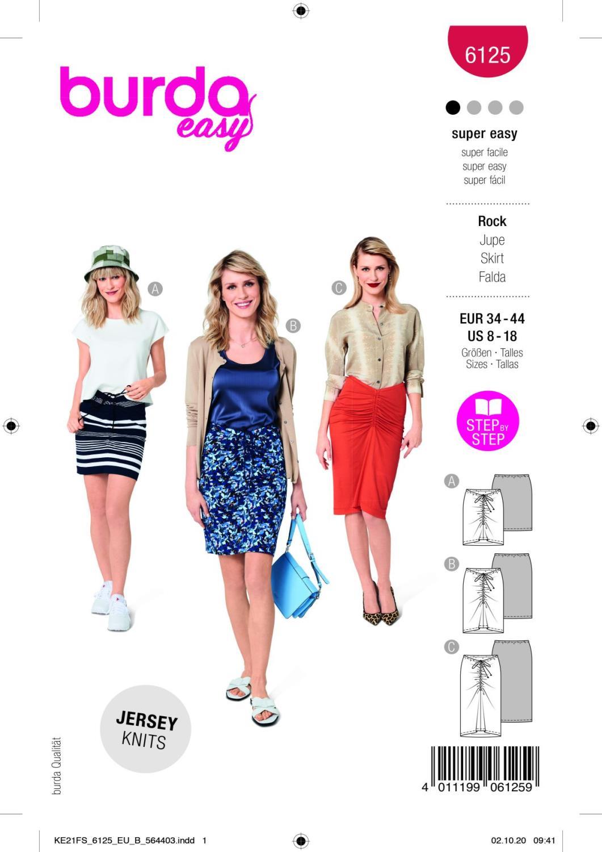 Burda 6125 Skirt