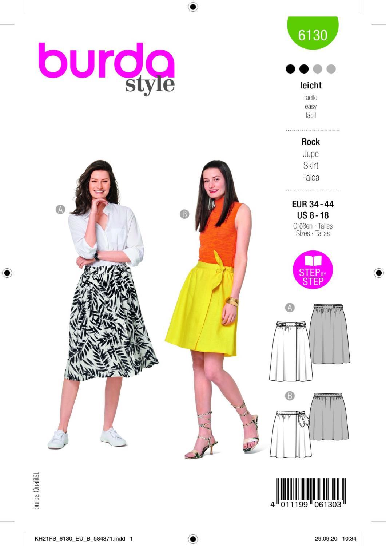 Burda 6130 Skirt