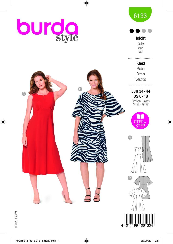 Burda 6133 Dress