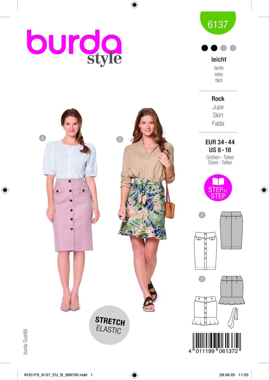 Burda 6137 Skirt