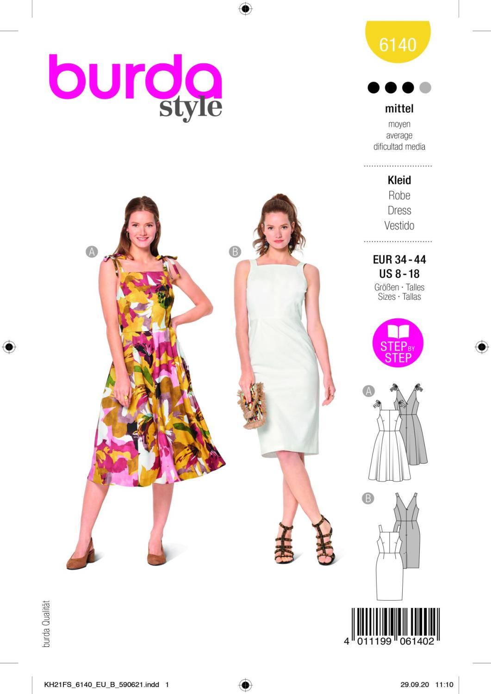 Burda 6140 Dress