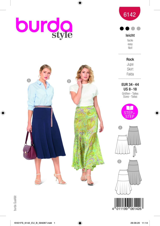 Burda 6142 Skirt
