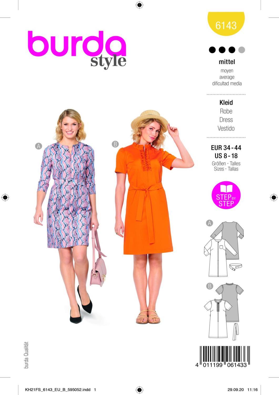 Burda 6143 Dress