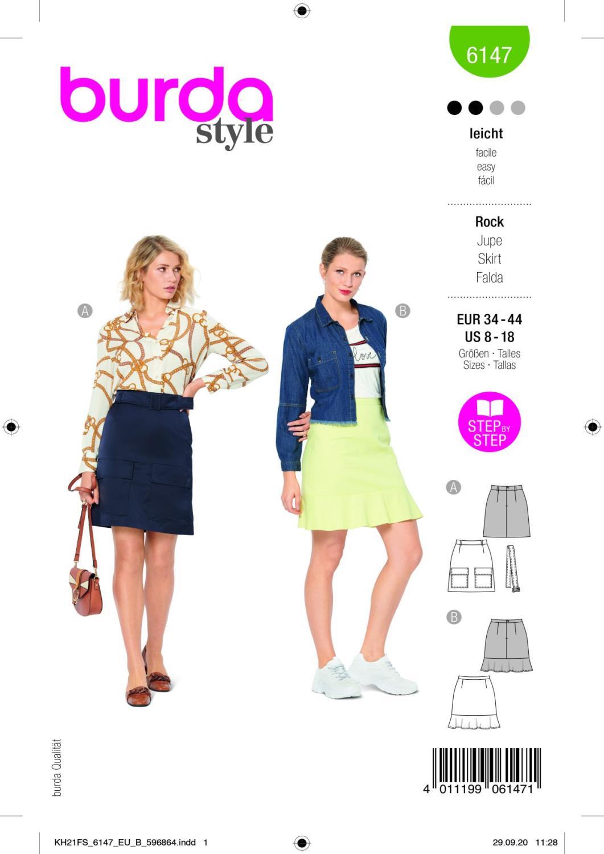 Burda 6147 Skirt