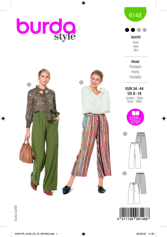 Burda 6148 Trousers/Pants