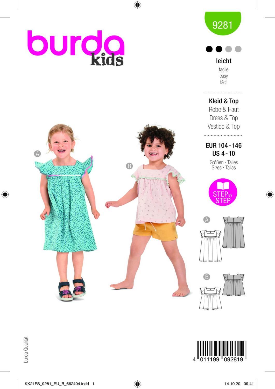 Burda 9281 Dress, Top