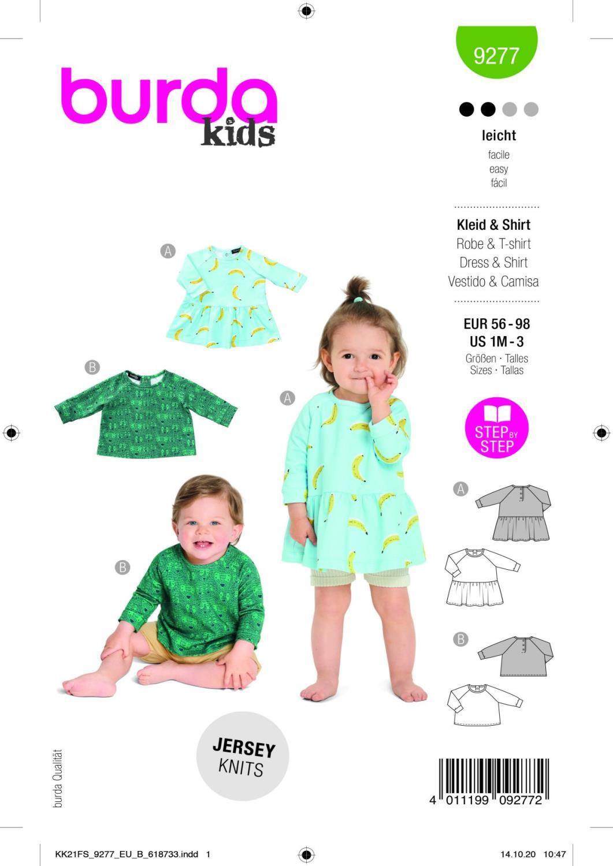 Burda 9277 Dress, Shirt