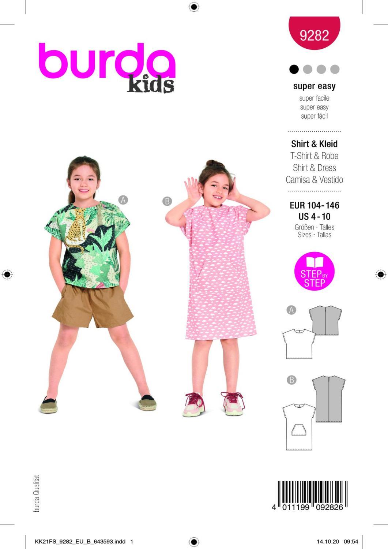 Burda 9282 Dress, Shirt