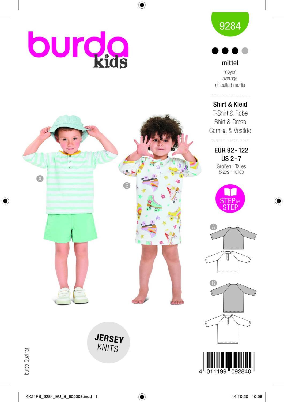 Burda 9284 Dress, Shirt