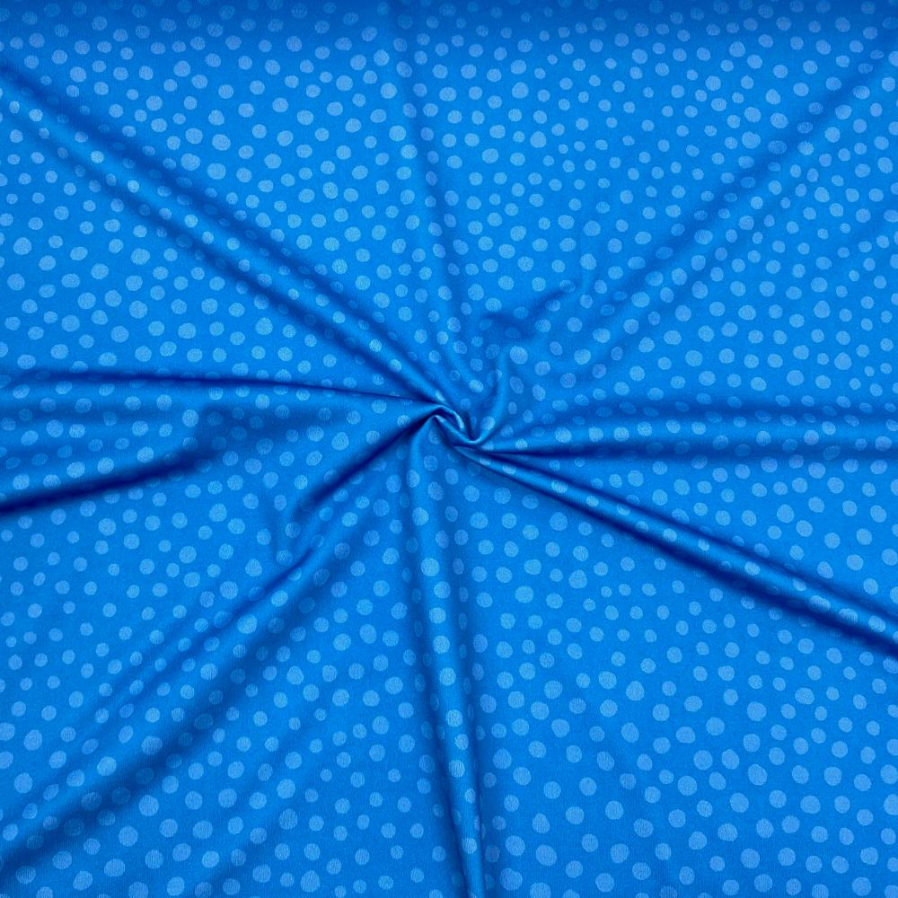 Swim/sport lycra Stone Dots Blue