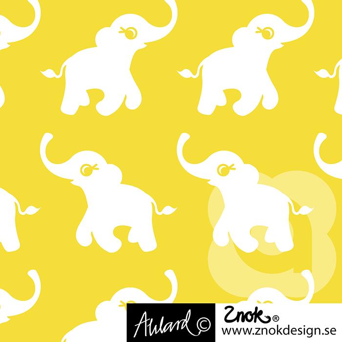 ZNOK Design Happy Elephants yellow