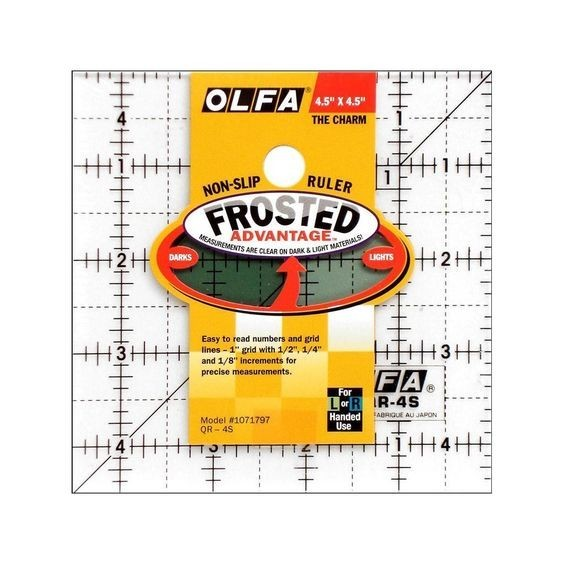OLFA Quilt linjal 4,5x4,5 inch - Frosted Advantage