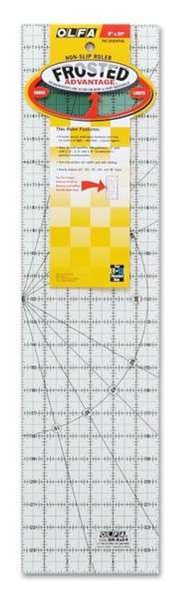 OLFA Quilt Frosted - Standard rektangle 6x24 inch