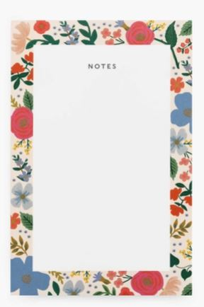 RIFLE PAPER CO - Blank  Notepad Wild Roses