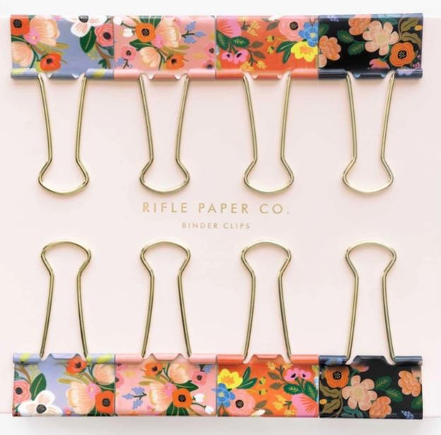 RIFLE PAPER CO - Floral Binder Clips