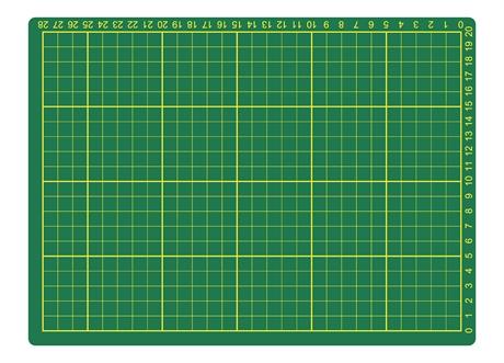 Skjærematte 22x30 cm x 3 mm/Inch 12x9 - Grønn