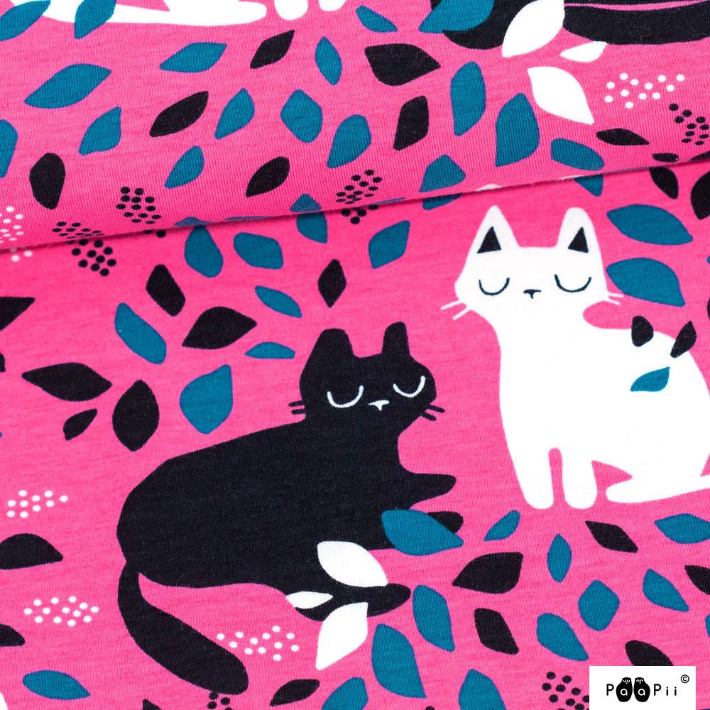 Paapii Design - Hide and seek organic jersey, pink - petrol