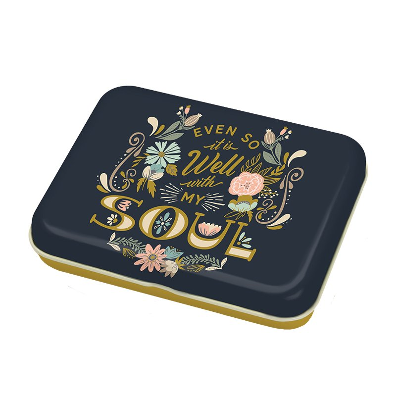 Well With My Soul Small Floral Tin
