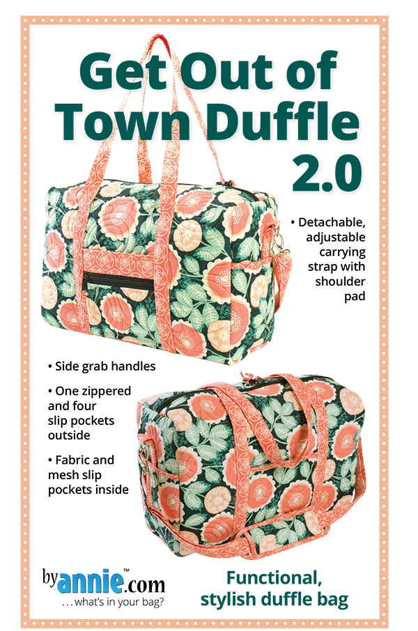 Get Out Of Town Duffle 2.0 - Patterns by Annie