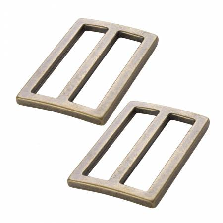 """Two-1.5"""" Widemouth Sliders Antique Brass, by Annie"""
