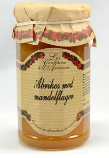 Aprikos med mandelflak syltetøy