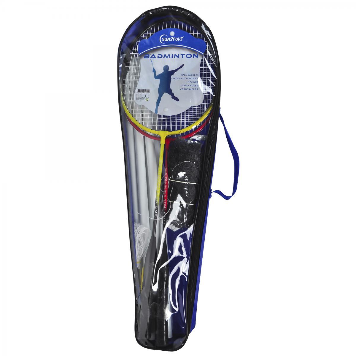 SunSport  Badminton 4pers sett med nett og stenger