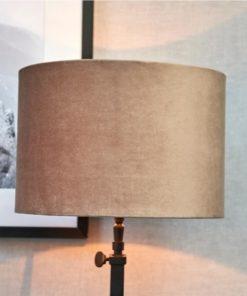 Velvet lampshade, sand 20x30