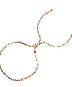 Crystal bracelet gold