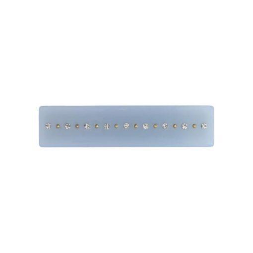 Crystal hair clip small, light blue