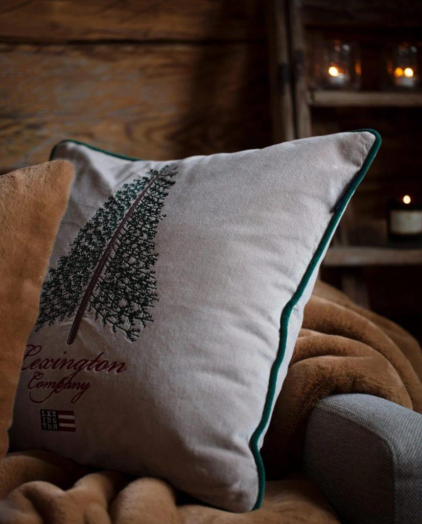 Christmas Tree Cotton Velvet pillow