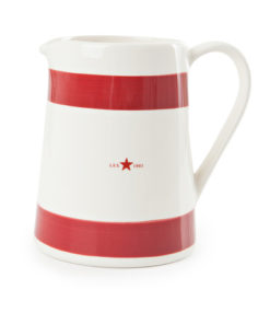Earthenware pitcher, red