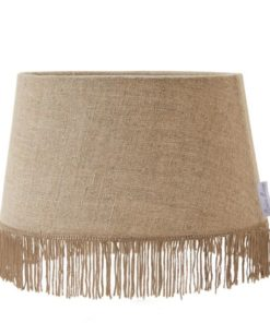 Fringes linen lampshade