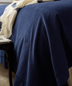 Hotel Velvet Bedspread dark blue