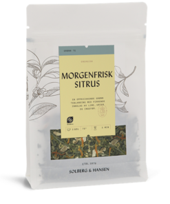 Morgenfrisk sitrus, økologisk te, 70g