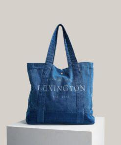 Lewis organic cotton denim shopper