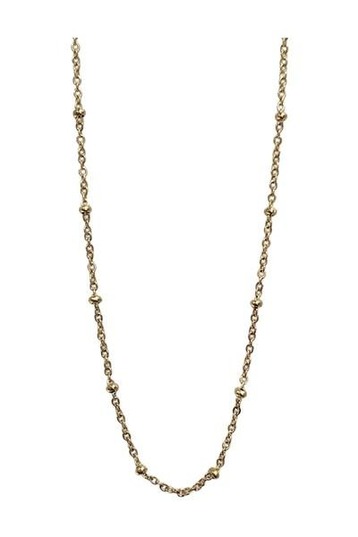 Dot chain necklace gold
