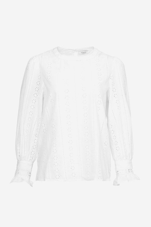 Darling embrodery shirt cotton, white