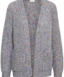 Kabelura knit cardigan, forever blue melange