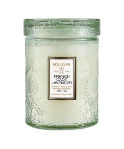 Voluspa 50t, french cade & lavender glass jar