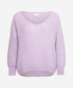 Fora knit v-neck sweater, lavender