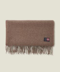 Lexington Massachussets Recycled Wool Blend Scarf, Brown Melange