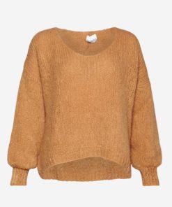 Fora knit v-neck sweater, camel