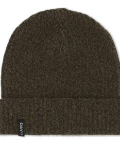 Day rib knit hat, dark olive