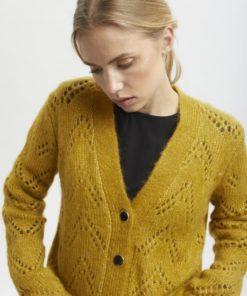 Kahecta knit cardigan, cumin melange