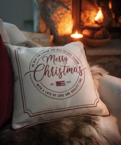 Lexington Merry Christmas Recycled Canvas Pillow Cover
