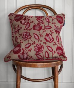 Lexington Flower Embroidered Wool Mix Pillow Cover